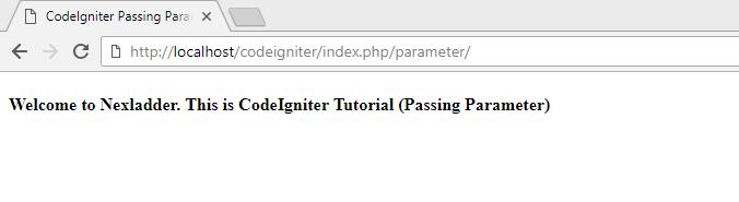Codeigniter Passing Parameter