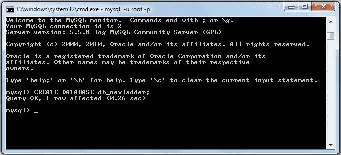 mysqli create database 2