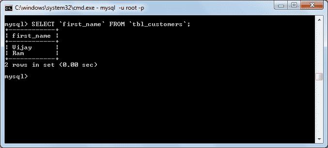mysql select